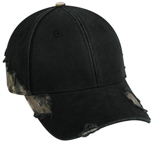 Promotional Hat w-Frayed Camo Inserts
