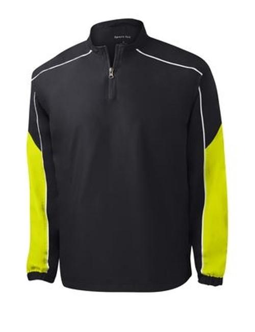 CLOSEOUT Custom Sport-Tek Piped 1/4-Zip Wind Shirt