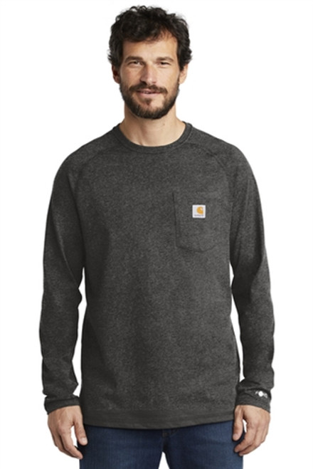 Carhartt Force ® Cotton Delmont Long Sleeve T-Shirt Embroidered