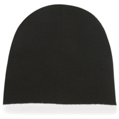 Custom Beanie with Contrasting Color Stripe