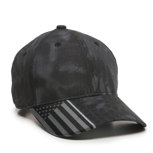 Promotional Camo with USA Flag Accent on Visor