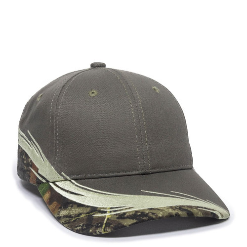 Promotional Licensed Camo with Flare Visor Embroidery Hat