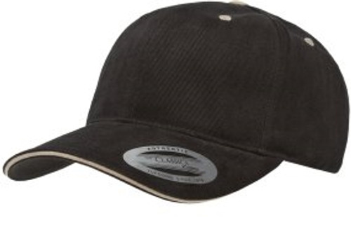 Custom Brushed Cotton Structured Hat with Sandwich Trim