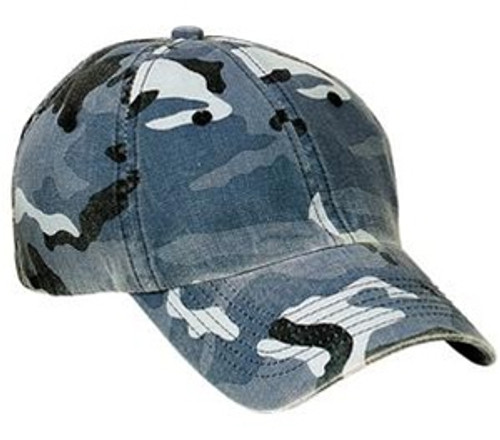 Custom 100% Washed Cotton Camo, Unstructured Low Profile Hat