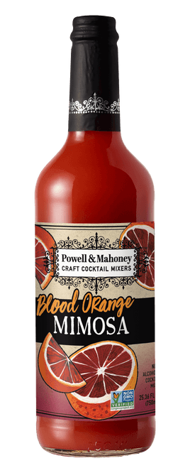 Powell and Mahoney's Blood Orange Cocktail Mixer pairs perfectly with virtually any spirit. Available at Samora's in Concord, Ontario.