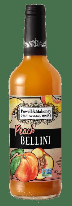 Powell & Mahoney Peach Bellini Craft Cocktail Mixer 750ml