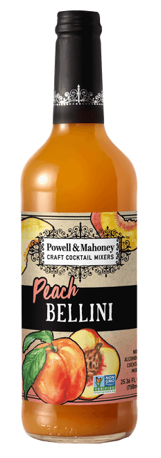 Powell & Mahoney Peach Bellini Craft Cocktail Mixer 750ml