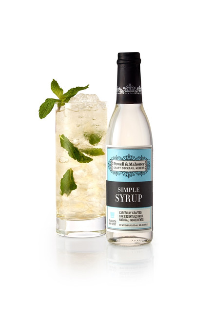 Powell & Mahoney Simple Syrup 375 ml bottle can be paired with any spirit.