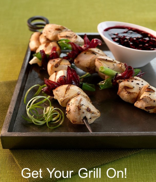 Get your grill on with Grilled Chicken & Hibiscus Skewers!