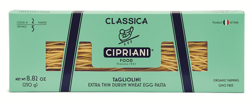 CLASSIC Egg Tagliolini, Organic - Made with Fresh Whole Eggs