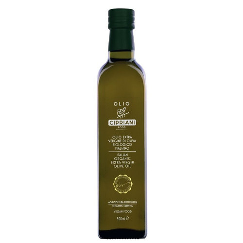Cipriani Organic Extra Virgin Olive Oil 500ml available from Samora's - Canadian importer.