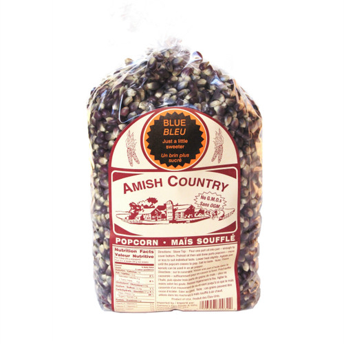 Amish Country NON-GMO Popcorn Kernels - Blue