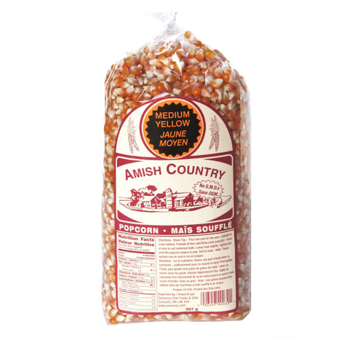 Amish Country NON-GMO Popcorn Kernels - Medium Yellow 907g