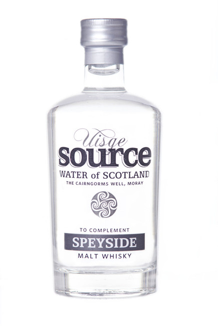 Uisge Source Water for Speyside Malt Whisky in 100 ml glass bottle