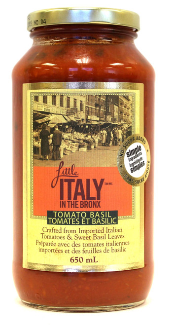 Little Italy in the Bronx Tomato Basil Sauce