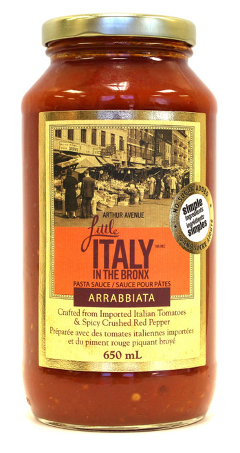 Little Italy in the Bronx Arrabbiata Sauce