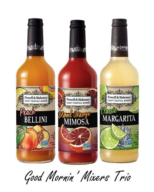 Good Mornin' Mixers Trio - Peach Bellini, Blood Orange Mimosa and Classic Margarita