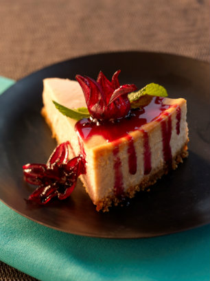 samoras-fine-foods-wild-hibiscus-flowers-syrup-on-cheesecake.jpg