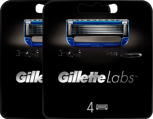 GILLETTELABS HEATED RAZOR 4 BLADES REFILLS x 2, with Subscription