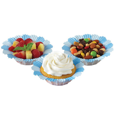 Blue Blossom Baking Cups