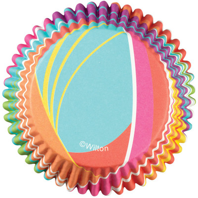 Rainbow Stripes ColorCup Baking Cups
