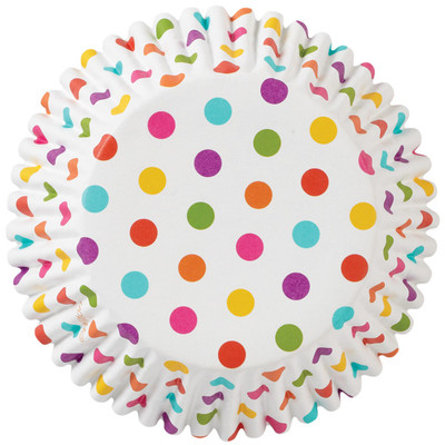 Rainbow Dots ColorCups Baking Cups
