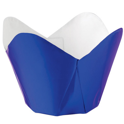 Blue Foil Pleated Baking Cups