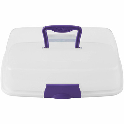 2 in 1 Reversible Rectangle Cupcake and Cake Carrier Caddy