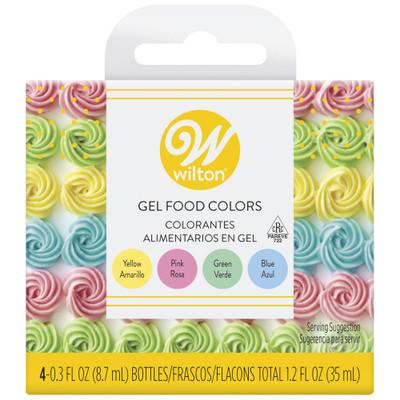 4pc Gel Pastel Icing Colours Set