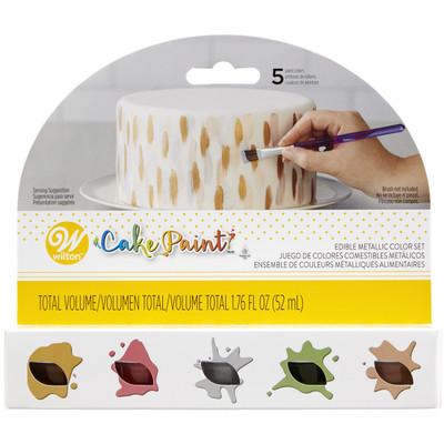 Cake Paint - Metallic Colours