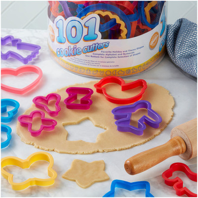 50pc Alphabet & Numbers Cookie Cutters