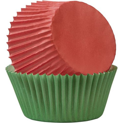 Red & Green Standard Baking Cups 75pc
