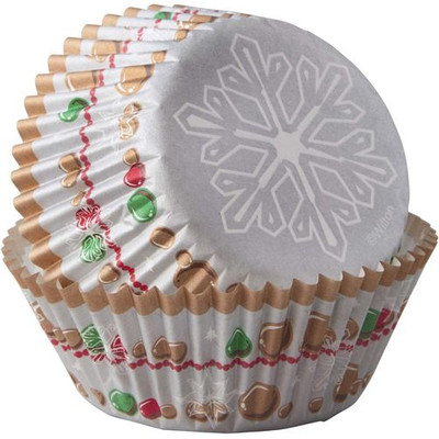 Snowflake Wishes Standard Baking Cup 75pc