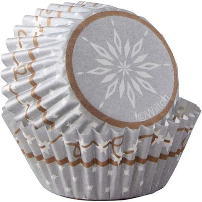 Snowflake Wishes Mini Baking Cup 100pc
