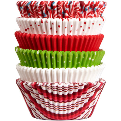 Xmas Holiday Standard Baking Cups Tube – 150pc