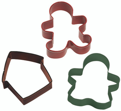 Gingerbread 3pc Cookie Cutter Set