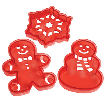 3pc Holiday Cookie Cutter Stencil