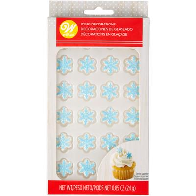 Shimmer Snowflake Royal Icing Decorations