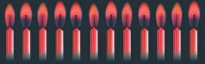 Red Colour Flame Candles