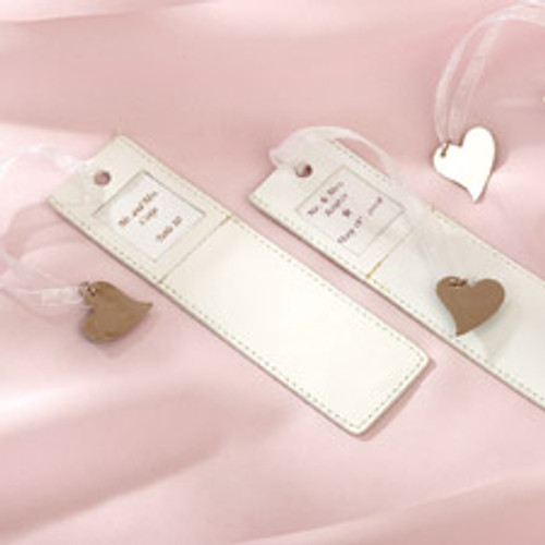 Faux Leather Bookmark Favour Kit