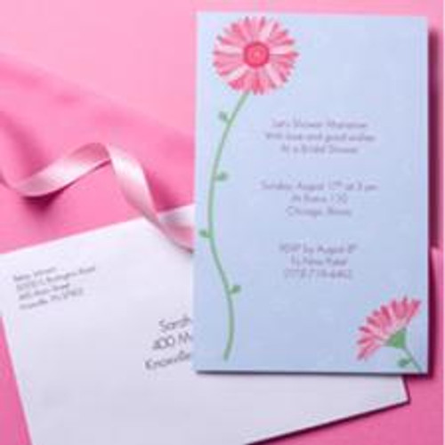Pink Gerbera Daisy Invitation Kits