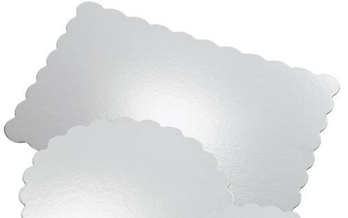 13 inch x 9 inch Rectangular Silver Cake Platter