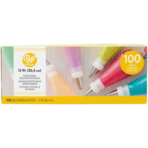 """100 Pack 12"""" Disposable Decorating Bags"""