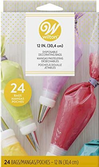 24 Pack Disposable Decorating Bags