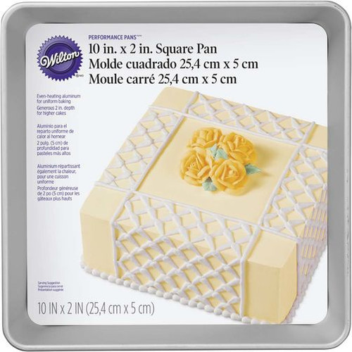 Performance Square Cake Pan 25 x 5cm