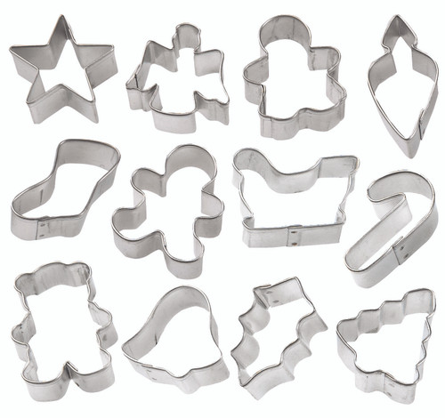 Holiday Mini Cookie Cutter 12pc Set