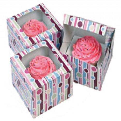 Bubble Stripes Cupcake Boxes