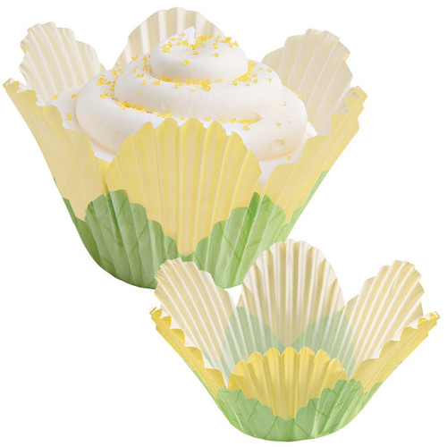 Yellow Petal Baking Cups