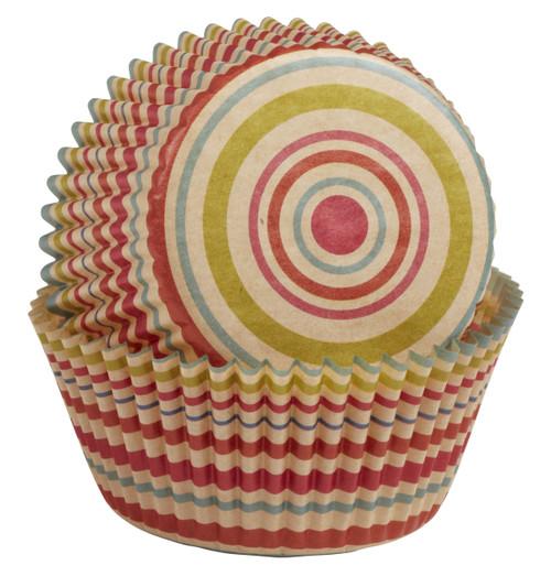 Unbleached Stripe Baking Cups
