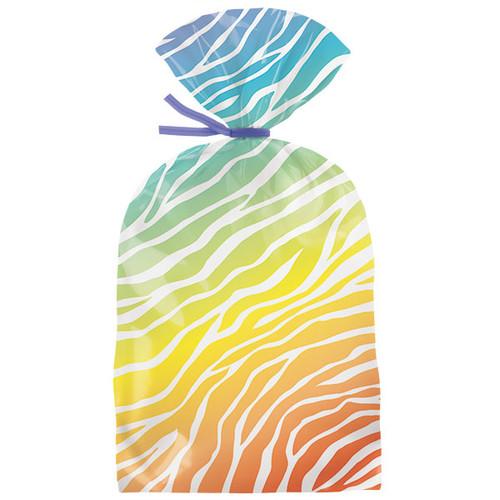 Bright Zebra Print Party Bags